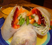 Vegetable Summer Rolls with Carrot-Ginger Dipping Sauce ...