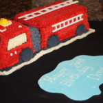 Fire Engine Birthday Cake and Cookies