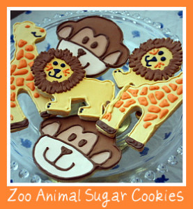 Zoo Animal Sugar Cookies