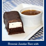 Brownie Sundae Bars with Salted Caramel Dipping Sauce