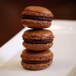 Chewy Chocolate Gingerbread Macarons