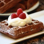 Double Chocolate Whole Wheat Raspberry Waffles