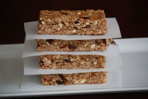 Peanut Butter and Jelly Granola Bars