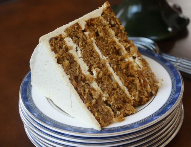 Pumpkin Spice Layer Cake with Toasted Walnut Buttercream
