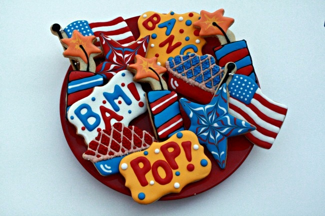 Fourth of July Decorated Sugar Cookies