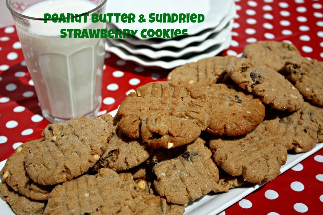 Crunchy Peanut Butter and Sun-Dried Strawberry Cookies