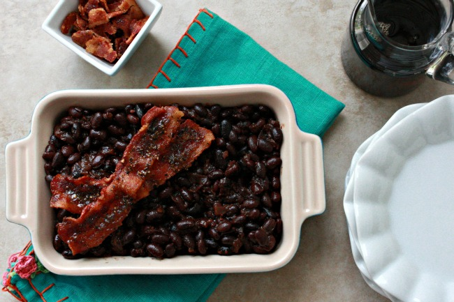 The BEST Maple Rum Baked Beans