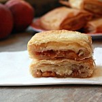 Baked Brie and Peach Strudels