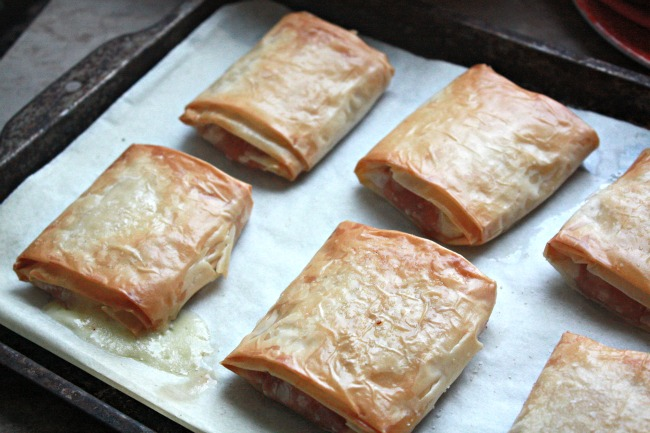 Baked Peach and Brie Strudels 1