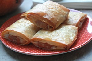 Baked Peach and Brie Strudels 3