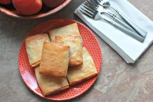 Baked Peach and Brie Strudels