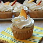 Peach-a Colada Cupcakes with Coconut Buttercream