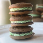Chocolate Mint Grasshopper Sandwich Cookies