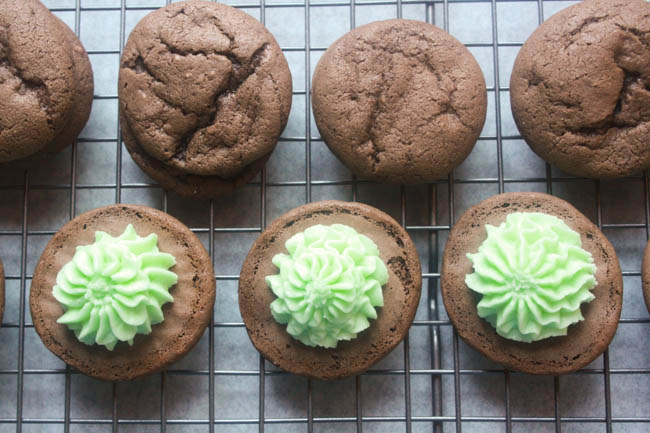 Grasshopper Mint Cookies