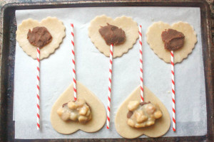 Heart Shaped Pie Pops -- filling