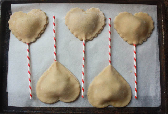 Heart Shaped Pie Pops