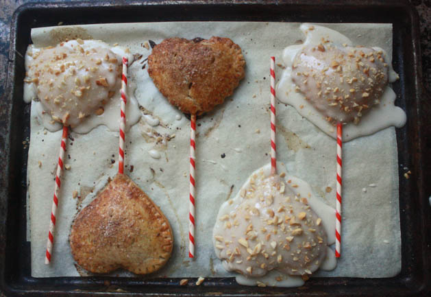 Heart Shaped Cinna-Monkey Pie Pops