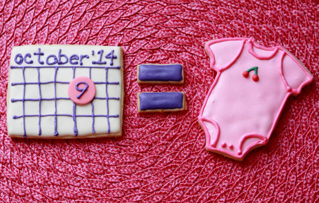 Baby Announcement Cookies 1
