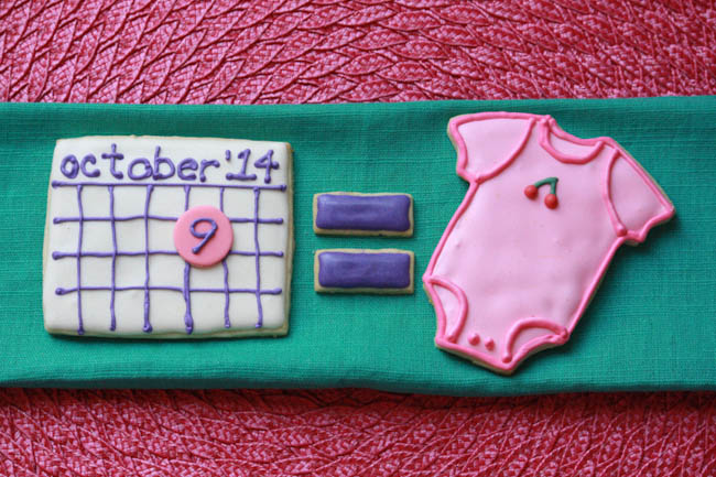 Baby Announcement Cookies 2