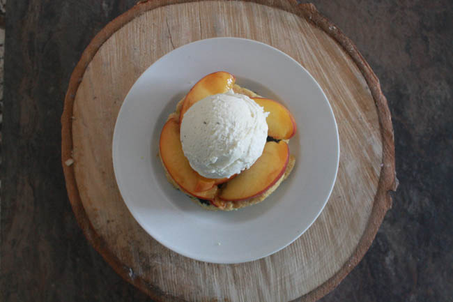 Peach, Blueberry and Lemon Cornmeal Shortcakes
