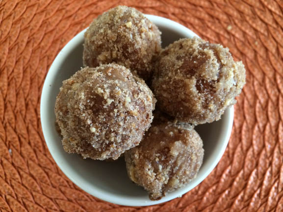 Hazelnut Apple Crisp Doughnut Holes