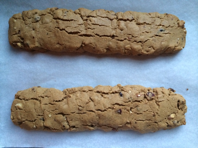 Gingerbread Biscotti Logs