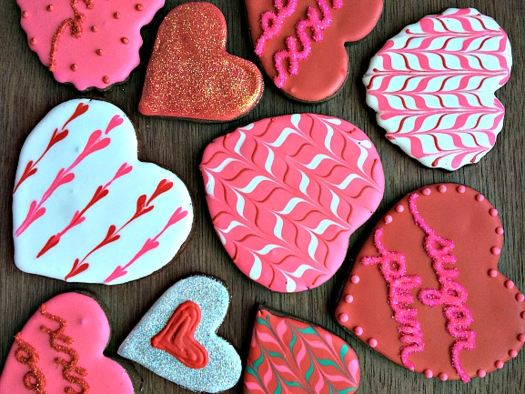 Dark Chocolate Decorated Cookies for your Sweetie