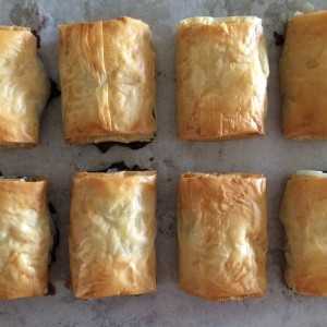 Mini Brie and Blueberry Chutney Strudels