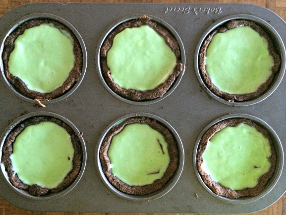 Frozen Grasshopper Tartlets