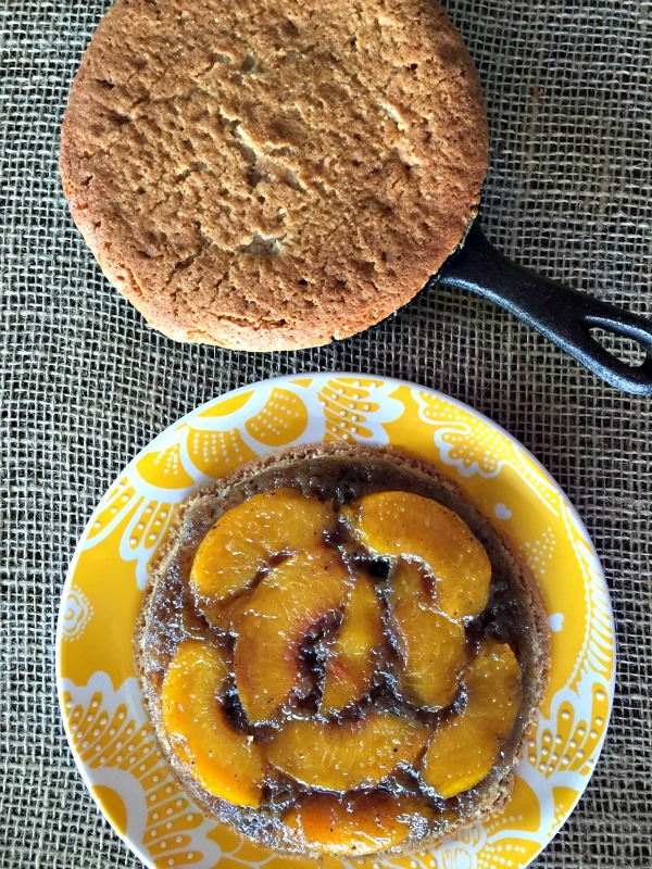 Grilled Mini Peach Upside Down Cakes 3