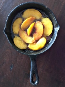 Grilled Peach Upside Down Cake