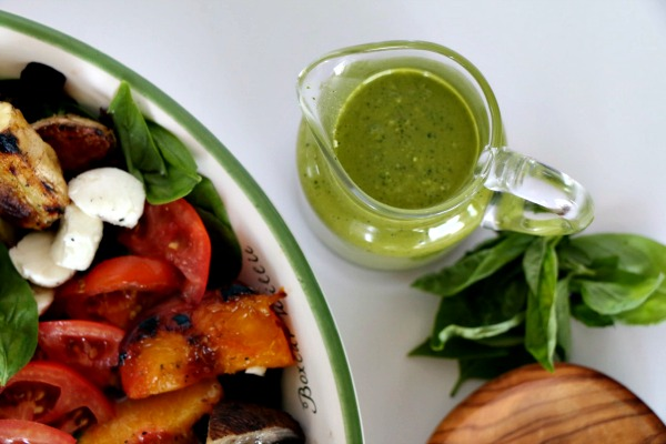 Lemon Basil Pesto Vinaigrette