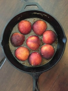 Peach Upside Down Cake on the Grill!