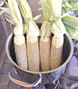 Soak your sweet corn in water for 10 minutes prior to grilling!