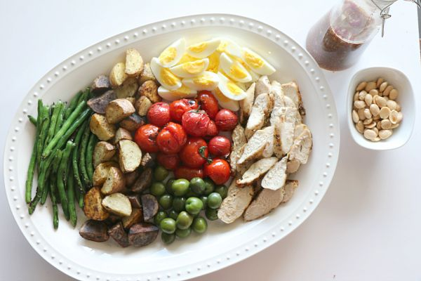 Grilled Chicken Nicoise Salad