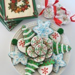Dark Chocolate Peppermint-Iced Holiday Cookies