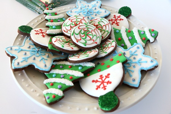Dark Chocolate Peppermint Christmas Cookies