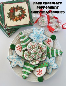 Dark-Chocolate Peppermint Christmas Cookies