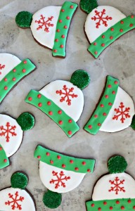 Dark Chocolate Peppermint Ski Hat Cookies