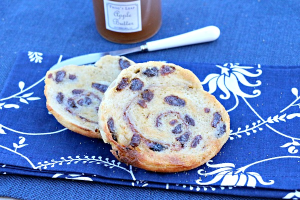 Cinnamon-Raisin Swirl English Muffins