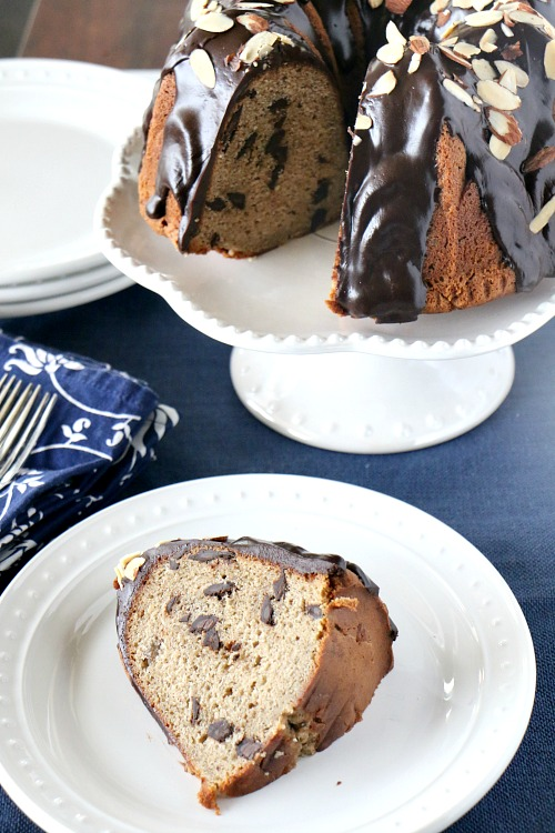 Banana Chocolate Chunk Pound Cake