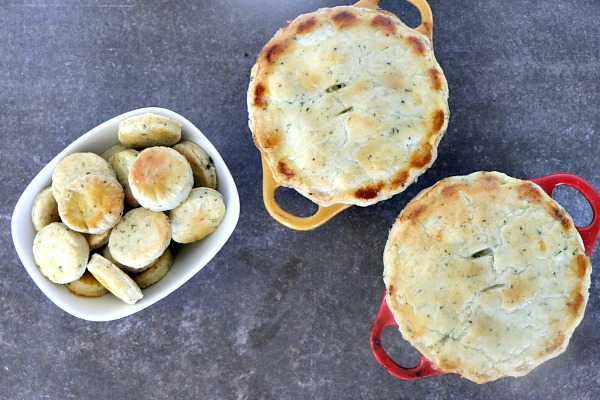 Chicken and Vegetable Pot Pies with Flaky Herb Crusts