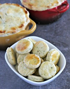 Flaky Herbed Pot Pie Crust Coins