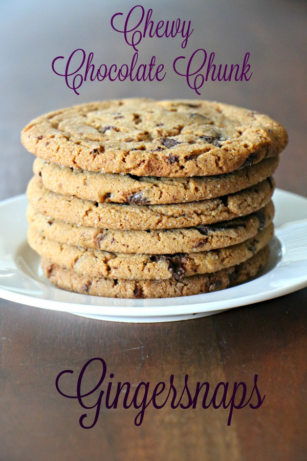 Chewy Chocolate Chunk Gingersnaps