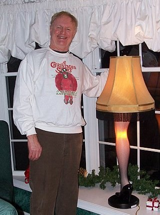 """leg lamp from a christmas story. """""""